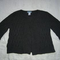 Classic Elements Grey Cardigan Sweater Euc ----M---Free Us Shipping Photo