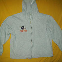 Classic Elements Hooded Jacket With Mickey Mouse59%Polyester41%Cotton and Gray Photo