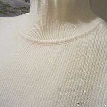 Classic Elements Ivory Turtle Neck Acrylic Sleeveless Tank Sz M 10/12 Photo