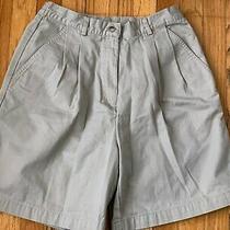 Classic Elements Khaki Walking Shorts Pleated Elastic Waist  Zip Fly Womens Sz 8 Photo