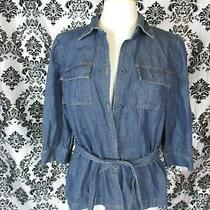 Classic Elements Large Tie Waist Denim Jacket Photo