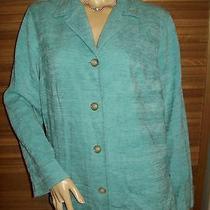 Classic Elements Light Blue Acrylic Blazer Jacket  Sz M Photo