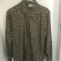 Classic Elements Long Sleeve Floral/leaf Shirt Top  Small Photo