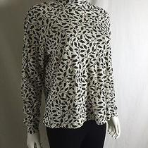 Classic Elements Long Sleeve Holly Graphic Knit Top Womens L Photo