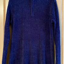 Classic Elements Mock Neck Tunic Sweater Size M Royal Purple Photo