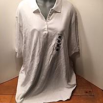 Classic Elements Nwta New Pristine White Polo Shirt Soft & Comfy Plus Size 3x Photo