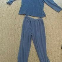 Classic Elements Pajamas 2 Piece Top and Bottom Large Blue Photo
