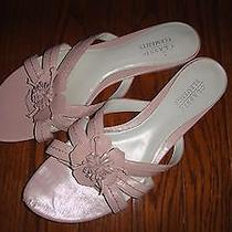 Classic Elements Pink Flower Sandals  Size 9 M  Leather Uppers Photo
