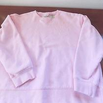 Classic Elements Pink Sweatshirt With Embellished Flower Ladies Small 6/8  Photo