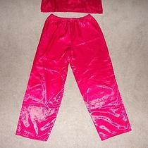 Classic Elements Red Long Sleeve Pj Set Sleepwear Pajamas Size Large 14-16 Photo
