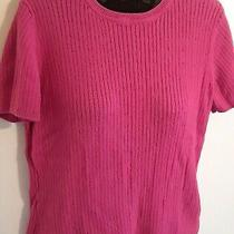 Classic Elements S 6/8 Sweater Top Short Sleeve Hot Pink Solid Ladies Modest  Photo