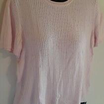 Classic Elements S 6/8 Sweater Top Short Sleeve Light Pink Solid Ladies Modest Photo