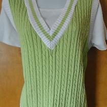 Classic Elements Size Med. (10-12) Lime Green & White Top (Looks Like a Vest) Photo