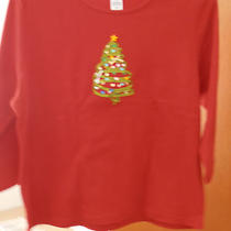 Classic Elements Size Xl Christmas Tree Decorated Shirt 60% Cotton 40% Polyester Photo