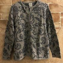 Classic Elements Sweater Jacket Cardigan Vintage Pattern Large 14-16 Photo