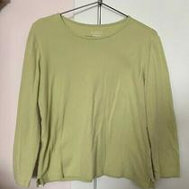Classic Elements Top Size Medium Green Long Sleeve Tee Photo