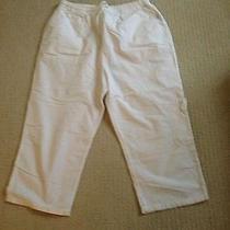 Classic Elements White Cotton Capris Size L (14-16) Euc Photo