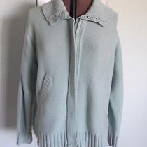 Classic Elements Woman 20 22 Zipper Front Sweater Green Cardigan Top Knit X Xx Photo