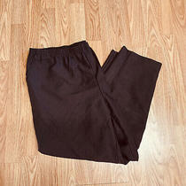 Classic Elements Woman Petite Womens Pants Sz 20wp Black Elastic Waist Rf28 Photo