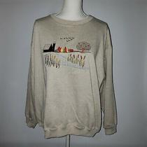 Classic Elements Woman Plus Size 16 18w Sweatshirt Oatmeal Color Fall Scene Nwt Photo
