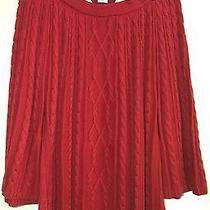 Classic Elements Woman Rhubarb Red 3/4 Sleeve Collared Cotton Sweater 24/26w Photo
