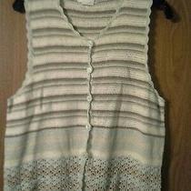 Classic Elements Woman Sweater Vest Cardigan Linen/cotton/rayon Size See Descrip Photo