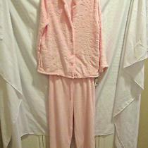 Classic Elements Womans Size Xl 2 Piece Plush Pink Pajamas-New Photo