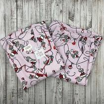 Classic Elements Women's Flannel Pink Christmas Cat Pajama Set  - Xl - Nwot-  Photo