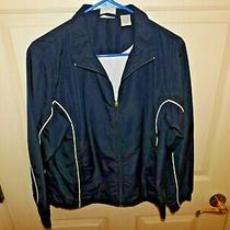 Classic Elements Women's Long Sleeve Full-Zip Navy Blue Windbreaker Jacket M Photo
