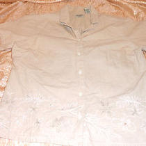 Classic Elements Womens Beige Petite Size Large Short Sleeve Shirt Photo