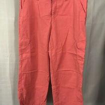 Classic Elements Womens Size 12 Coral Capri Full Pants Rolled Cuffs Comfort Photo