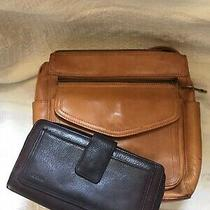 Classic Fossil Leather  Medium Sz Shoulder Crossbody Bag and Wallet Checkbook Photo
