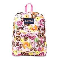Classic Jansport Superbreak Backpack Multi Donuts School College Free Shipping Photo