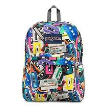 Classic Jansport Superbreak Backpack Multi Mixtapes School College Free Shipping Photo