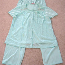 Classic Mid Century Vintage Light Aqua Pajama Set by Vanity Fair Photo