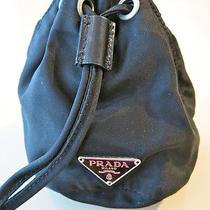 Classic Prada Nylon Black Jewelry Cosmetic Accessory Pouch Clutch Photo