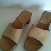 Classic Salvatore Ferragamo Wood Clogs.. Sandals.. Shoes  Photo