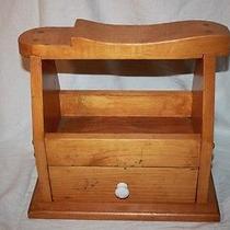 Classic Solid Wood Shoe Shine Kit Box Dress Mens W/ Drawer  Photo