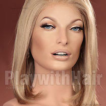 Classic Straight Lace Front Wig Natural Blonde - No Glue or Tape Needed Photo