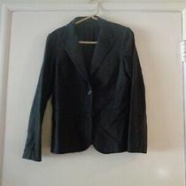 Classic Theory Black Cotton 2 Button Blazer Size 12 Vguc Photo