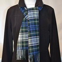Classic Traditional Campbell Tartan Plaid Scarf Warm Winter Blue White Green New Photo