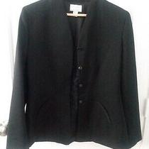 Classics by Anne Klein Fitted Black Wool Blazer Size 8 Photo