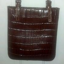 Claudia (Italy) Brown Croc Leather Shoulder/handbag/purse Cc-B2 Photo