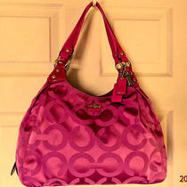 Clean Coach 14305 Maggie Op Art Sateen Hobo Bag Holiday Winter Summer Sale  Photo