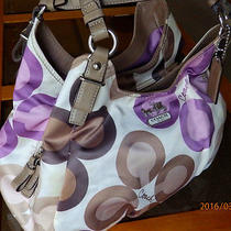 Clean Coach 17055 Madison Clover Print Maggi Hobo Satchel Holiday Summer Winter Photo