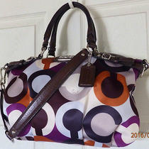Clean Coach 18636 Madison Op Art Sophia Satchel Tote Holiday Winter Summer Sale Photo