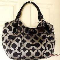 Clean Coach 18639 Madison Op Art Metallic Shoulder Bag Holiday Winter Summer Photo