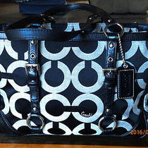 Clean Coach 19404m Op Art Sateen Gallery Signature Tote Holiday Winter Summer  Photo