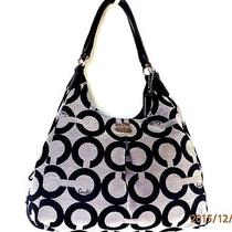 Clean Coach 21125 Madison Op Art Maggie Hobo Satchel Clean Holiday Winter Summer Photo