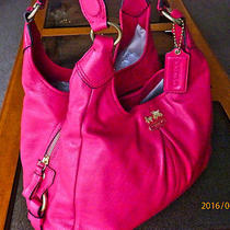 Clean Coach 21225 Madison Maggie Leather Hobo Shoulder Bag Holiday Summer Winter Photo